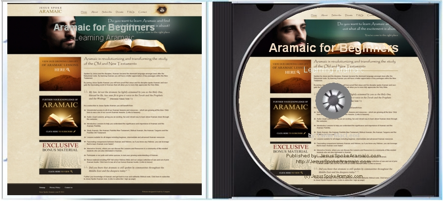 DVD of Learning Aramaic for Beginners